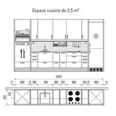 Plan de cuisine en I de 3m64