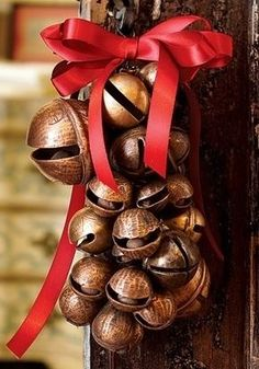 jingle bells..I've had really old sleigh bells on my front door for..forever ♥dr..☺