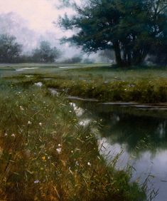 """""""Morning Grove,"""" by Renato Muccillo  10 x 12 - oil"""