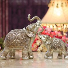 Elephant figurines from #thailand