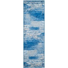 Adirondack Silver/Blue 2 ft. 6 in. x 14 ft. Runner