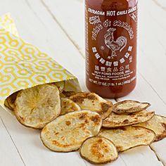 Baked Sriracha Potato Chips #HealthyAperture