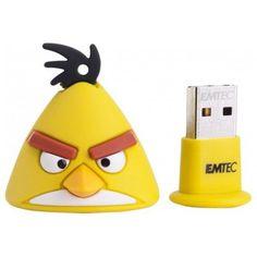 "Clé USB 2.0 EMTEC Angry Bird ""Yellow Bird"" - 4Go - Jlg-Discount"