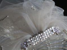 Bachelorette party Veil, soft gray bachlorette veil, hen party gray veil, bacelorette veil, bride party veil, bridal shower accessory, pink by SuspendedStar on Etsy