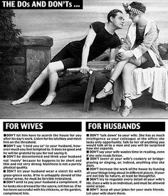 """More advice.""""Even a wife is an individual..."""""""