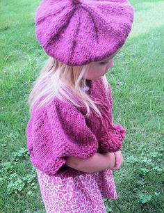 Cardiff Bay Handknits--Beth Ann Beck--Tesslyn Knit Capelet and Beret (18 months - age 4)