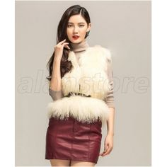 Fur Waistcoat With Lamb Fur For Women On Sale, 2013 New Style Fur Waistcoat With Fashion At Amazing Price On Hot Sale