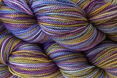 Fingering Weight Hand Painted Merino Wool Sock Yarn in Violet Park by eweandmeyarns on Etsy https://www.etsy.com/listing/152776625/fingering-weight-hand-painted-merino