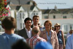 Film crew shoot new Rosamunde Pilcher movie in Porthleven.