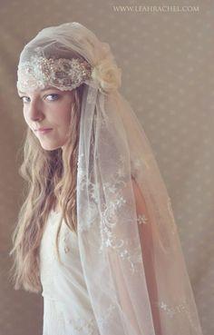 Romantic Downton Abbey Style Juliet Veil by Ruby & Cordelia's #Millinery  #HatAcademy