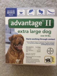 Flea and Tick Remedies 20749: Advantage Ii For Extra Large Dogs Over 55 Lbs - 4 Pack - Free Shipping! -> BUY IT NOW ONLY: $40.88 on eBay!