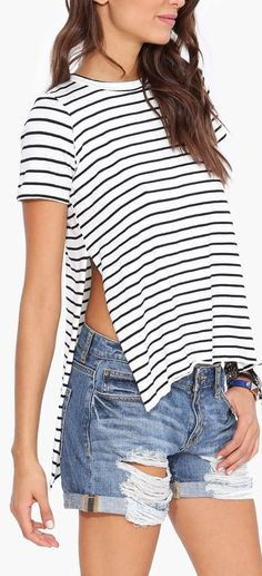 stripe tunic tee
