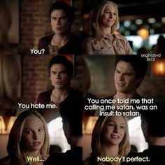 The vampire diaries funny moment on we heart it Vampire Diaries Memes, Vampire Diaries Damon, Wallpaper Vampire Diaries, Vampire Diaries Poster, Ian Somerhalder Vampire Diaries, Vampire Daries, Vampire Diaries Seasons, Vampire Diaries The Originals, New Vampire Movies