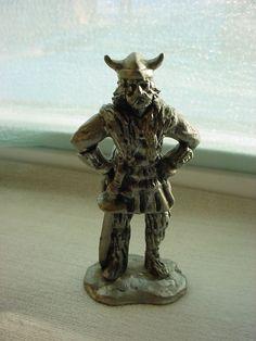 Vintage Viking Figurine Pewter Metal Rolf 1981 USA 4 inch Seller florasgarden on ebay