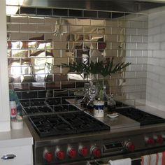 Mirrored Backsplashes, A Breath Of Fresh Air. Basement KitchenKitchen ...