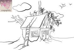 Házikós és Télapós kifestő - Csupapötty