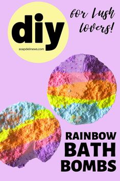How to make rainbow bar embeds for DIY hidden rainbow bath bombs. This lush bath bomb embed recipe gives your bath bombs a rainbow of colors in the bathtub. Lush addicts can use them to relax at home for self care, to give as DIY gifts or to create as crafts to make and sell. A fun way to create a home spa for a relaxing bath time experience. This bath and body recipe for DIY bath bombs with rainbow colors is the perfect craft project for DIY beauty lovers. Make DIY hidden rainbow bath bombs.