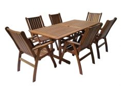 Zahradní dřevěný nábytek, sestava MERANTI VICTORIA SET