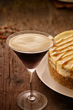 Be the perfect host with an Espresso Martini and a Kahlua Cheesecake.