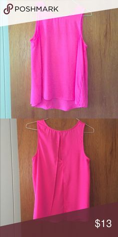 "Hot pink Everly tank Size M Everly tank. Has flowy back with ""keyhole"" type opening on back. I wish this still fit!! Only worn once. Everly Tops Tank Tops"