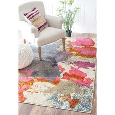 nuLOOM Abstract Vintage Fancy Multi Rug (5'3 x 7'7) | Overstock.com Shopping - The Best Deals on 5x8 - 6x9 Rugs