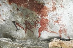 Ancient South African rock art tells the stories people wanted to preserve for future generations. Just like time capsules or novels or ? African Paintings, Art Paintings, African Art, Africa Rocks, Human Art, Ancient Art, Rock Art, Painted Rocks, Art History