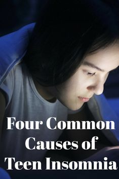 Four common causes of teen insomnia and easy tips to help restore restful sleep. #causesofteeninsomnia Insomnia Help, Insomnia Causes, Teen Sleeping, Healthy Sleep, Cause And Effect, Sleep Deprivation, Learning, Restore, Kids
