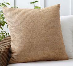 Faux Natural Fiber Indoor/Outdoor Pillow