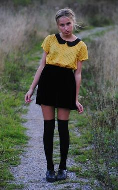 Blouse With Minihearts From H&M, Velvet Skirt From Home Made | Minihearts (by Wilma Harju) | LOOKBOOK.nu