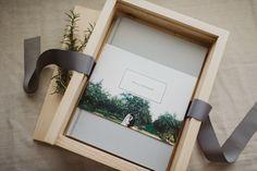 Album packaging ideas; custom wooden album boxes