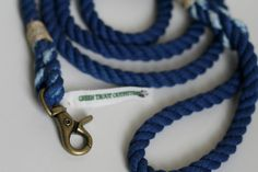 Royal Blue Rope Dog Leash 6 FT by GreenTroutOutfitters on Etsy