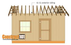 12x16 shed plans - rafter block siding