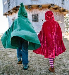 Robin Hood and Little Red Riding Hood Capes.