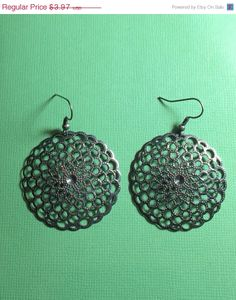 ON SALE Pewter Earrings by RoseyJohnny on Etsy, $3.77 #christmasgifts #giftsunder5dollars #etsy #etsyjewelry