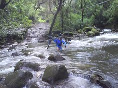 We have to cross this 40 meter wide river...awesome scenario...