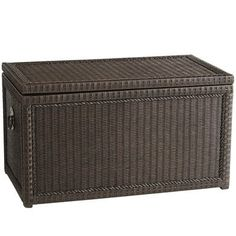 You don't need less stuff—you need more storage. And with nearly 7 cu ft of interior space, our handsome Lindi Trunk is large enough to hold it all. Handcrafted of stained rattan over a robust wooden frame, this trunk features metal medallion ring handles and a clear lacquer finish that allows the natural beauty of the materials to shine through. A Pier 1 exclusive.