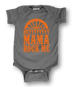 Look at this #zulilyfind! Charcoal 'Hey Mama Rock Me' Bodysuit by It's Just Me #zulilyfinds