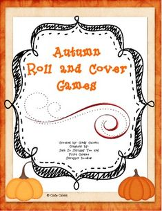 Here's a series of 6 different roll and cover games with a fall theme. Includes apple, pumpkin and scarecrow boards.