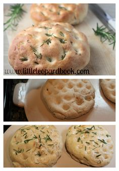 Homemade Rosemary Focaccia Bread using the Longaberger Flameware Pizza Stone