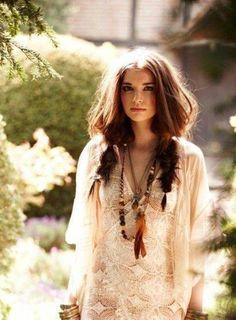 Bohemian Hair Style – Cute Spring & Summer Outfit Ideas