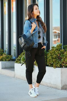 17 Fresh Fall Fashion Outfits To Update Your Closet In 2018 Athleisure Outfits, Sporty Outfits, Fall Fashion Outfits, Trendy Outfits, Autumn Fashion, Summer Outfits, Cute Outfits, Workwear Fashion, Fashion Blogs