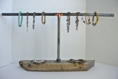 Jewelry Display Perfect for Eclectic, Industrial, Hardware, Recycled Pieces via Etsy