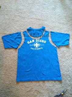 4e80e6737a7 Turn your tee shirt into a tank top! by DanielleLouiseJohnson27 Shirt Into  Tank Top