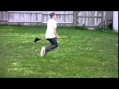 Funny Video Guy Flying on a broomstick HD!!! - YouTube