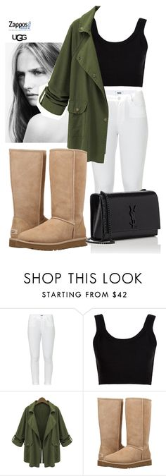 """""""The Icon Perfected: UGG Classic II Contest Entry"""" by neflaluna on Polyvore featuring Paige Denim, Calvin Klein Collection, Chicnova Fashion, UGG, Yves Saint Laurent, ugg and contestentry"""