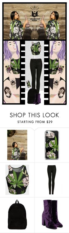 """""""Mischievous Design (48)"""" by irresistible-livingdeadgirl ❤ liked on Polyvore featuring Topshop, Ann Demeulemeester, Dries Van Noten, StreetStyle, outfit, emo and casualoutfit"""