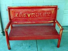 DIY &amp Crafts  Chevy Pickup Tailgate Bench cakepins.com