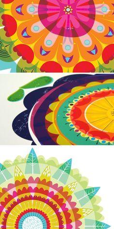 Zoe Ingram's beautiful kaleidoscopic prints via modamuse