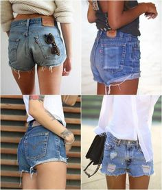 Vintage Levi's brand shorts. These babes have been hand-cut, distressed and frayed to perfection. These have a high waist and medium-high cut. FREE US SHIPPING!