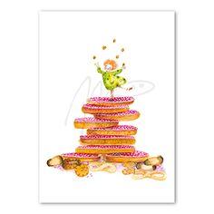 'roze muisjes' from: www.moniekpeekcardshop.com